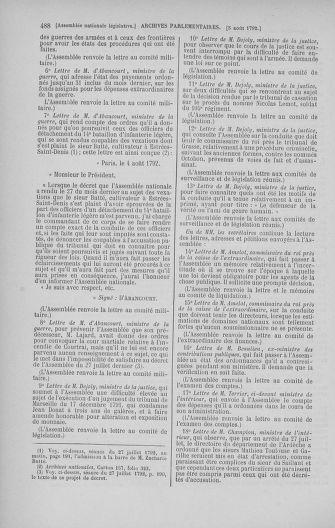 Tome 47 : Du 21 juillet au 10 août 1792 - page 488