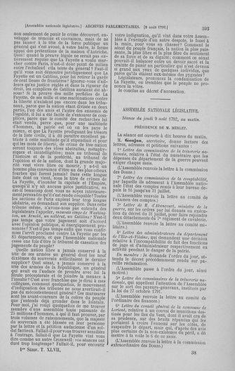 Tome 47 : Du 21 juillet au 10 août 1792 - page 593