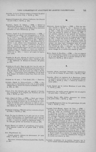 Tome 47 : Du 21 juillet au 10 août 1792 - page 765