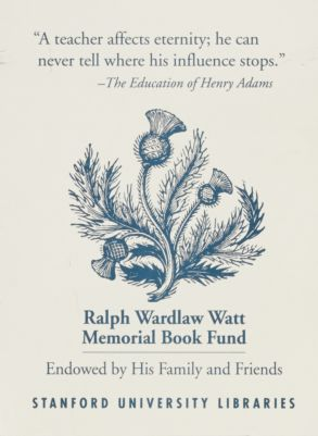 Ralph Wardlaw Watt Memorial Book Fund