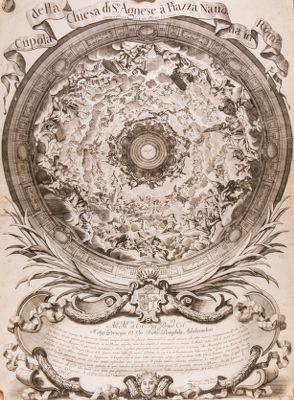 Cupola della chiesa di S. Agnese a pazza Navona a Roma
