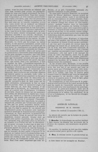 Tome 10 : Du 12 novembre au 24 décembre 1789 - page 41