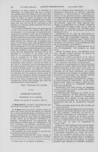 Tome 10 : Du 12 novembre au 24 décembre 1789 - page 54