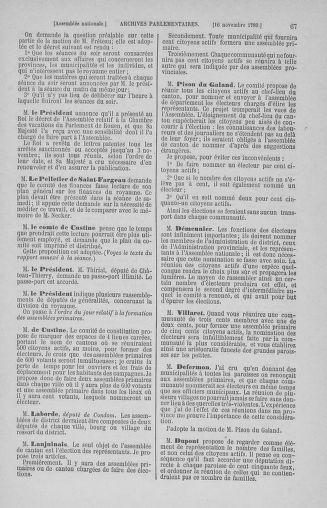 Tome 10 : Du 12 novembre au 24 décembre 1789 - page 67