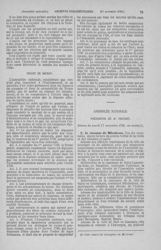 Tome 10 : Du 12 novembre au 24 décembre 1789 - page 75