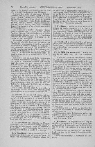 Tome 10 : Du 12 novembre au 24 décembre 1789 - page 76