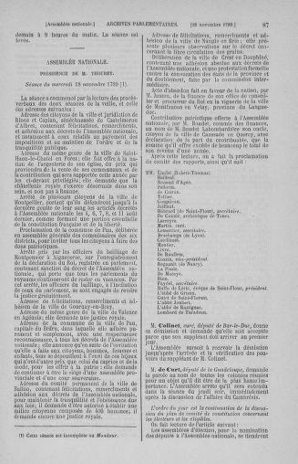 Tome 10 : Du 12 novembre au 24 décembre 1789 - page 87