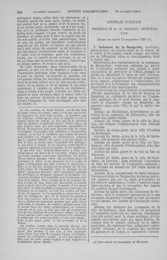 Tome 10 : Du 12 novembre au 24 décembre 1789 - page 246