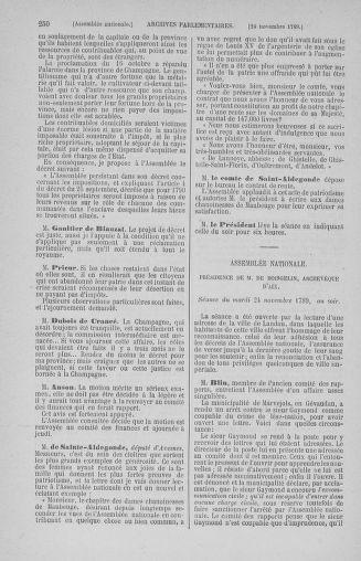 Tome 10 : Du 12 novembre au 24 décembre 1789 - page 250