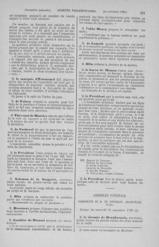 Tome 10 : Du 12 novembre au 24 décembre 1789 - page 251