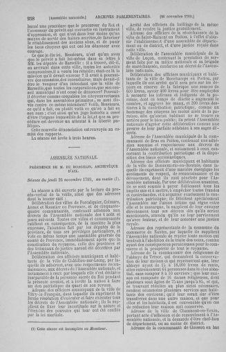 Tome 10 : Du 12 novembre au 24 décembre 1789 - page 258