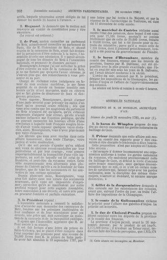 Tome 10 : Du 12 novembre au 24 décembre 1789 - page 262