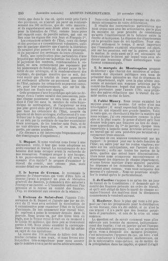 Tome 10 : Du 12 novembre au 24 décembre 1789 - page 280