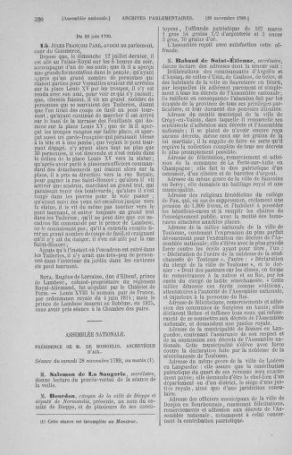 Tome 10 : Du 12 novembre au 24 décembre 1789 - page 320