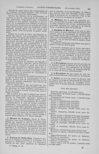 Tome 10 : Du 12 novembre au 24 décembre 1789 - page 321