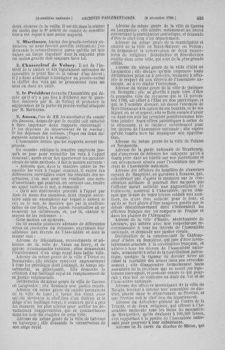 Tome 10 : Du 12 novembre au 24 décembre 1789 - page 423