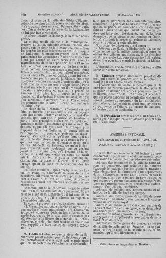 Tome 10 : Du 12 novembre au 24 décembre 1789 - page 500