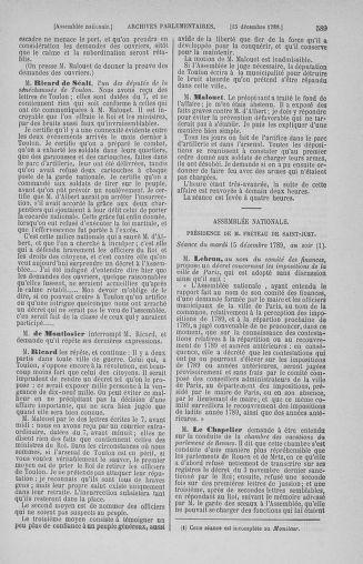 Tome 10 : Du 12 novembre au 24 décembre 1789 - page 589