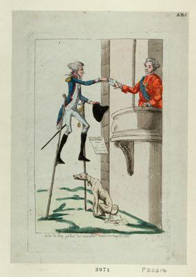 Aide de camp porteur des nouvelles de Varennes au petit Condé [estampe]