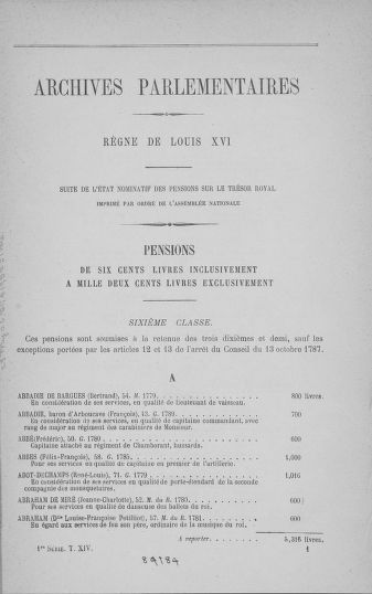 Tome 14 : Assemblée nationale consitutante du 20 avril 1790 - page 1