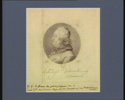 J.G. Le <em>Franc</em> de Pompignan né à [ ?] arch.e c.te de Vienne, député du Dauphiné aux Etats généraux de 1789 : [dessin]