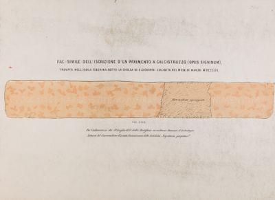 Isola Tiberina, iscrizione rinvenuta in un pavimento