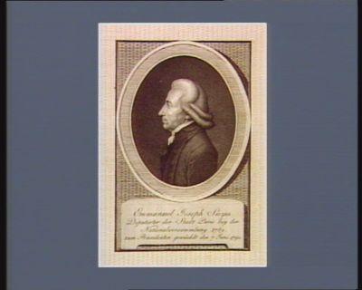 Emmanuel Joseph Sieyes Deputirter des Stadt Paris bey der Nationalversammlung 1789 zum Praesidenten gewäehlt den 7 Juni <em>1790</em> : [estampe]