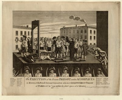 <em>The</em>  Execution <em>of</em> <em>the</em> famous Brissot and his accomplices, 21 members <em>of</em> <em>the</em> French National Convention, who were guillotined for treason [estampe]
