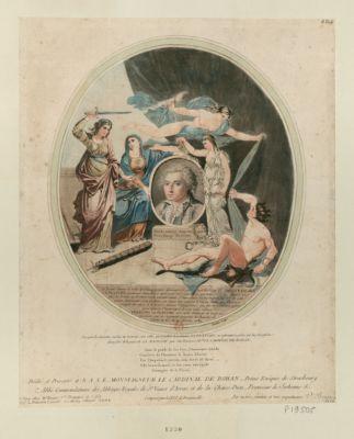 Plutôt mourir innocent que de vivre chargé de crimes la Vérité levant le voile de l'Imposture découvre le portrait de l'infortuné François La Planche... : [estampe]