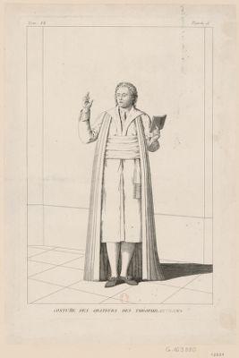 Costume des orateurs des théophilantropes [estampe]
