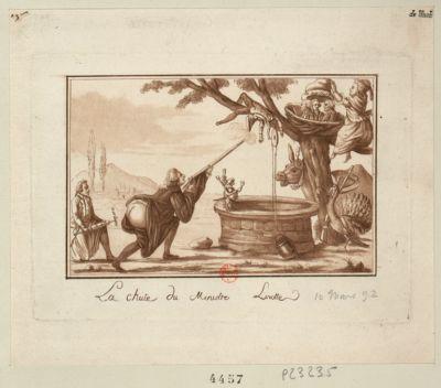 La  Chute du ministre Linotte [estampe]