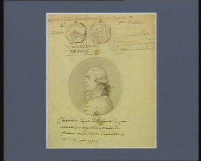 Chevalier député de la prévôté de Paris cultivateur à Argenteuil et membre de plusieurs sociétés royales d'agriculture, né le 25 X.bre 1750 : [dessin]