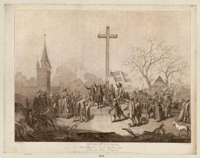 Serment civique du village de N.... en fevrier 1790 : dédié aux bons villageois : [estampe]