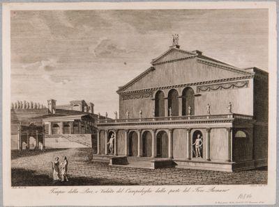 Basilica di Costantino, ricostruzione della facciata con porticato