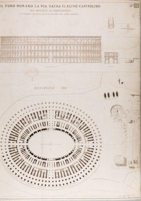 Colosseo, prospetto e pianta