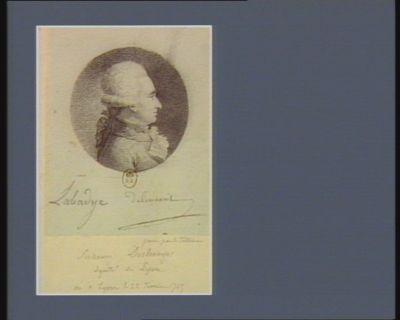 Suzanne Deschamps député de <em>Lyon</em>, né à <em>Lyon</em> le 22 février 1745 : [dessin]