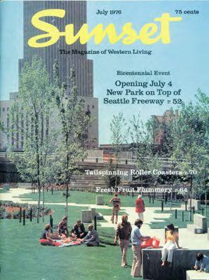 Sunset Magazine cover. July 1976