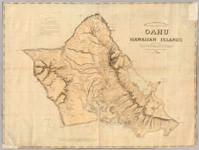 Topographic Map Of The Island Of Maui Maui County Hawaii In
