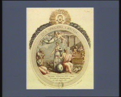 Una spes, una laetitia Necker, Ludovici XVI justicia revocatur ad administrationem 25. mens. august. 1788... : [estampe]