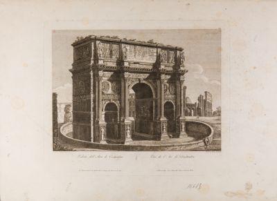Arco di Costantino, visto di 3/4 dall'angolo nord