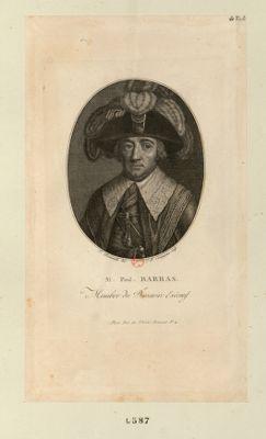 M. Paul. Barras membre du Directoire exécutif né à Foxemphoux pres Barjole, dep.t du Var, le 31 [i.e.30] j.n 1755 : [estampe]