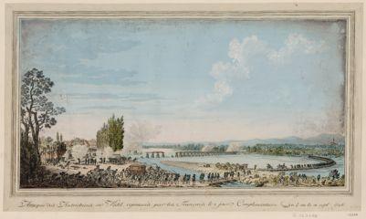 Attaque des Autrichiens sur Kehl, repoussés par les Français le 2 jour complementaire an 4 ou le 18 sept. 1796 [estampe]