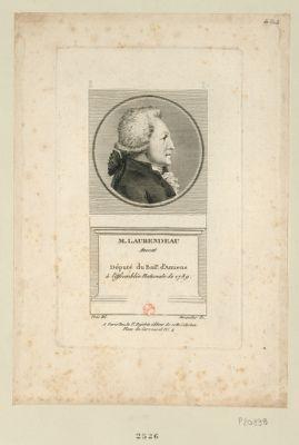 M. Laurendeau avocat député du bail.e d'Amiens à l'Assemblée nationale de 1789 : [estampe]