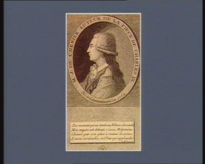 M.J. de Chenier auteur de la piece de Charles IX né à Constantinople en 1764 : [estampe]