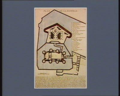 Plan de la Bastille cette edifice fut commencé l'an 1369 sous le règne de Charles V... : [estampe]