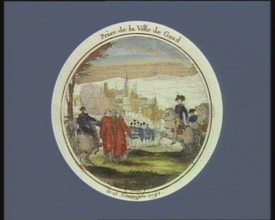 Prise de <em>la</em> ville de Gand le 13 novembre 1792 : [estampe]
