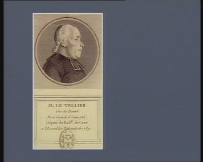 M. le Tellier cure de Bonoeil né à Caen le 6 juin 1726 député du bail.ge de Caen a l'Assemblée nationale de 1789 : [estampe]