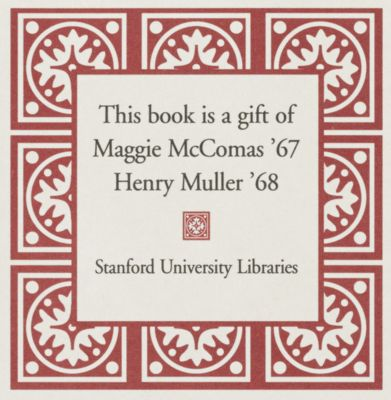 Gift of Maggie McComas and Henry Muller