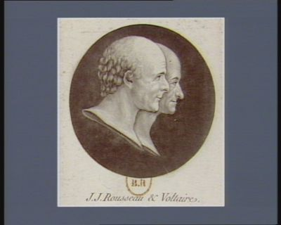 J.J. Rousseau et Voltaire [estampe]