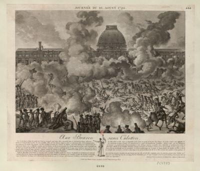 Journée du 10. aoust 1792 aux braves sans culottes... : [estampe]